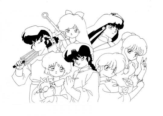ranma 1 2 coloring pages | Dibujos De Shampoo Ranma 1 2 Sketch Coloring Page